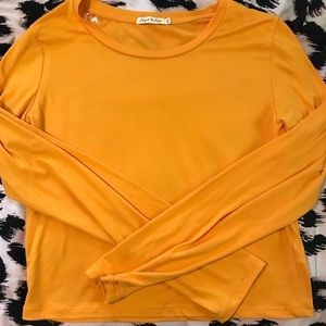 Fashion Nova Orange Crop Top NEVER WORN